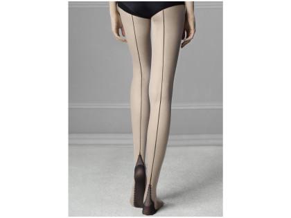 Glatte Damenstrumpfhose mit SIN 20den-Naht - 2