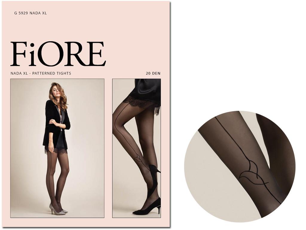 Black smooth ladies' pantyhose with side seams - 3