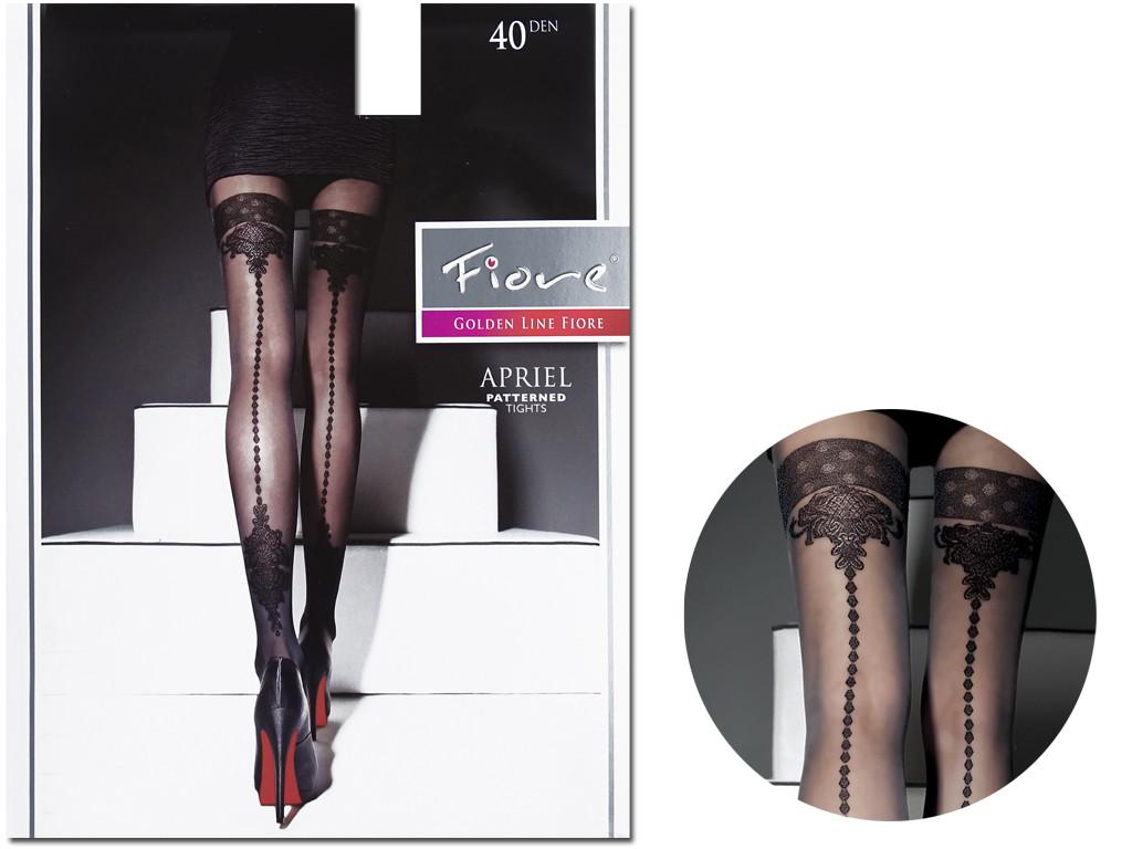Sutured tights imitating semi-overlapping stockings 40den - 3