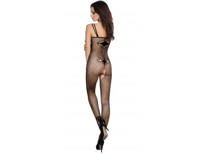 Black bodystocking ladies' erotic underwear - 2