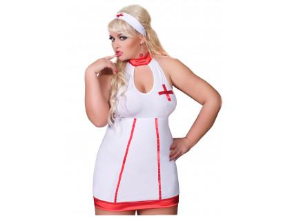Nurse costume large size plus - 1