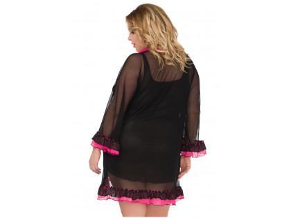 Lingerie set T-shirt and bathrobe large sizes - 2