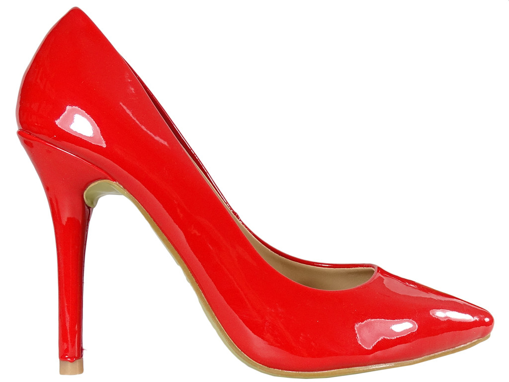 Red female pins lacquered boots - 1
