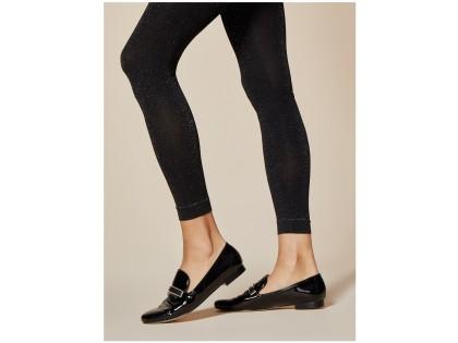 Opake flexible Leggings mit Lurexglanz 100den - 2