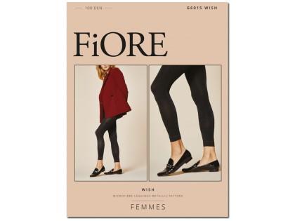 Opaque flexible leggings with lurex gloss 100den - 1