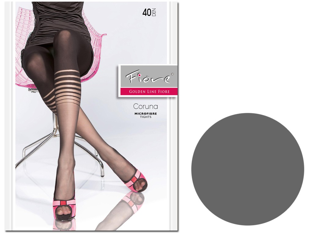 Microfibre patterned tights like 40den leggings - 3