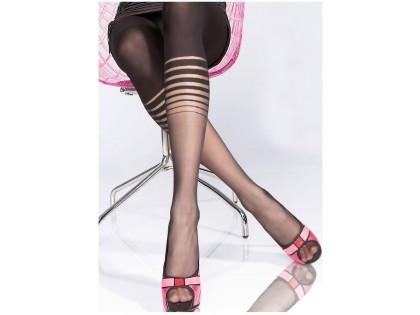 Microfibre patterned tights like 40den leggings - 2