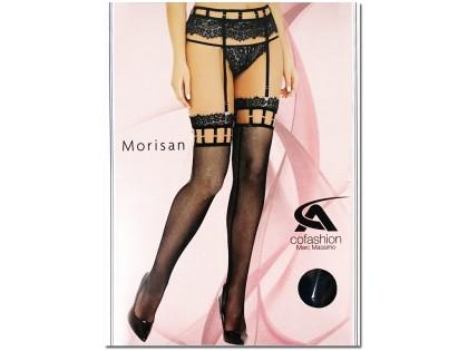 Cabaret stockings black small eyelet with lace - 1