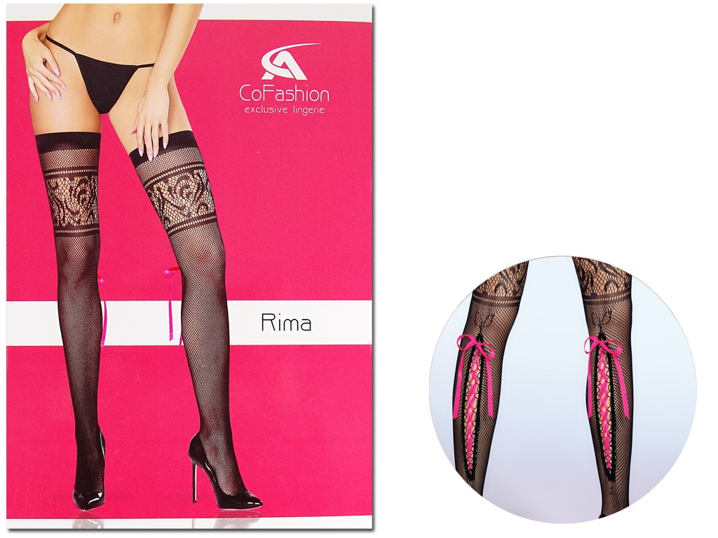 Women's patterned stockings tied at the back - 3