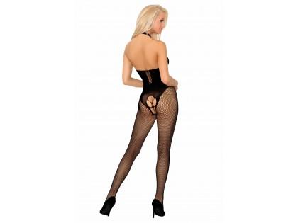 Black flexible erotic female bodystocking - 2