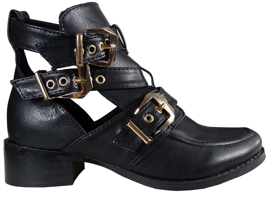 Black women's eco leather boots - 1