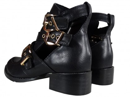 Black women's eco leather boots - 2