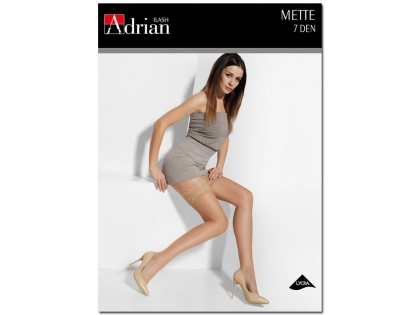 Thin ladies' stockings 7 den Mette with lace - 1