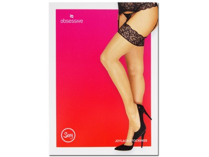 Obsessive black lace stockings - 1