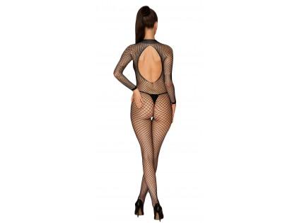 Black bodystocking cabaret erotic underwear - 2