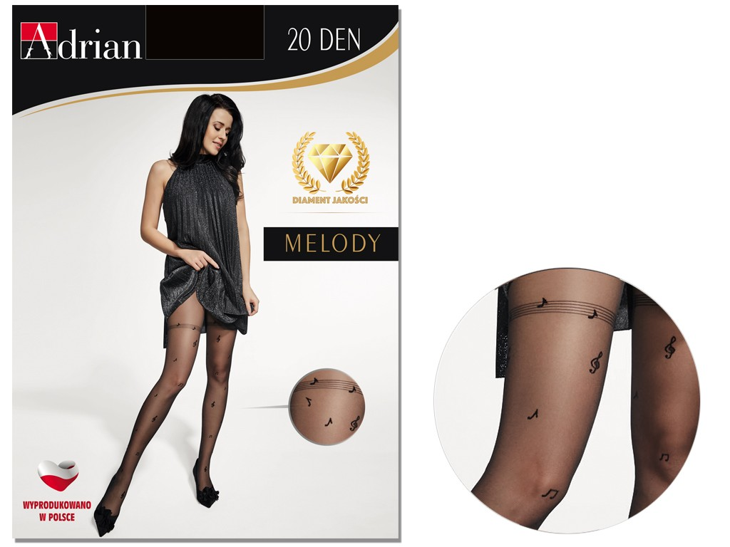 MELODY 20 DEN Adrian patterned tights - 3