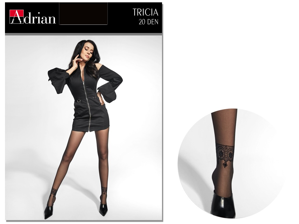 Smooth tights with 20den Adrian ankle pattern - 3