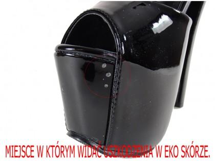 Outlet fekete lakkozott eco bőr sarok - 1