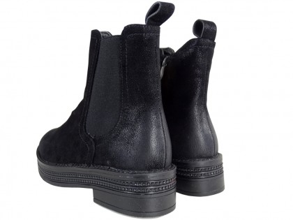 Black flat insulated women's boots - 2
