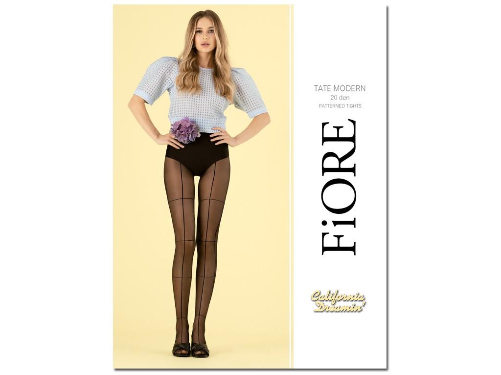 Checked tights 20den Fiore - 1