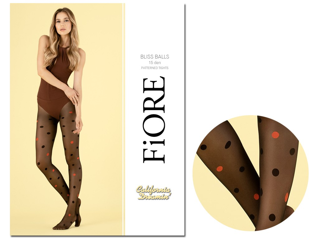 Tights with colourful dots and polka dots 15den - 3