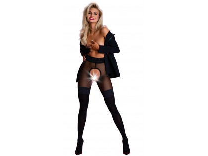 Open crotch tights open crotch like stockings - 1