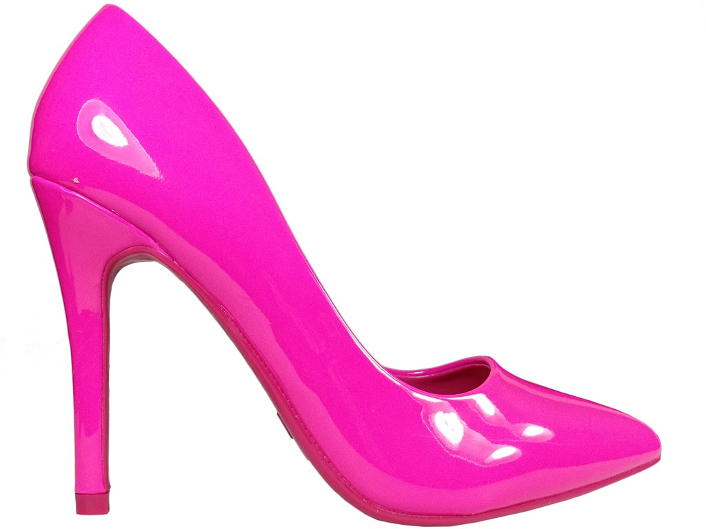 Pink eco leather patent stilettos - 1