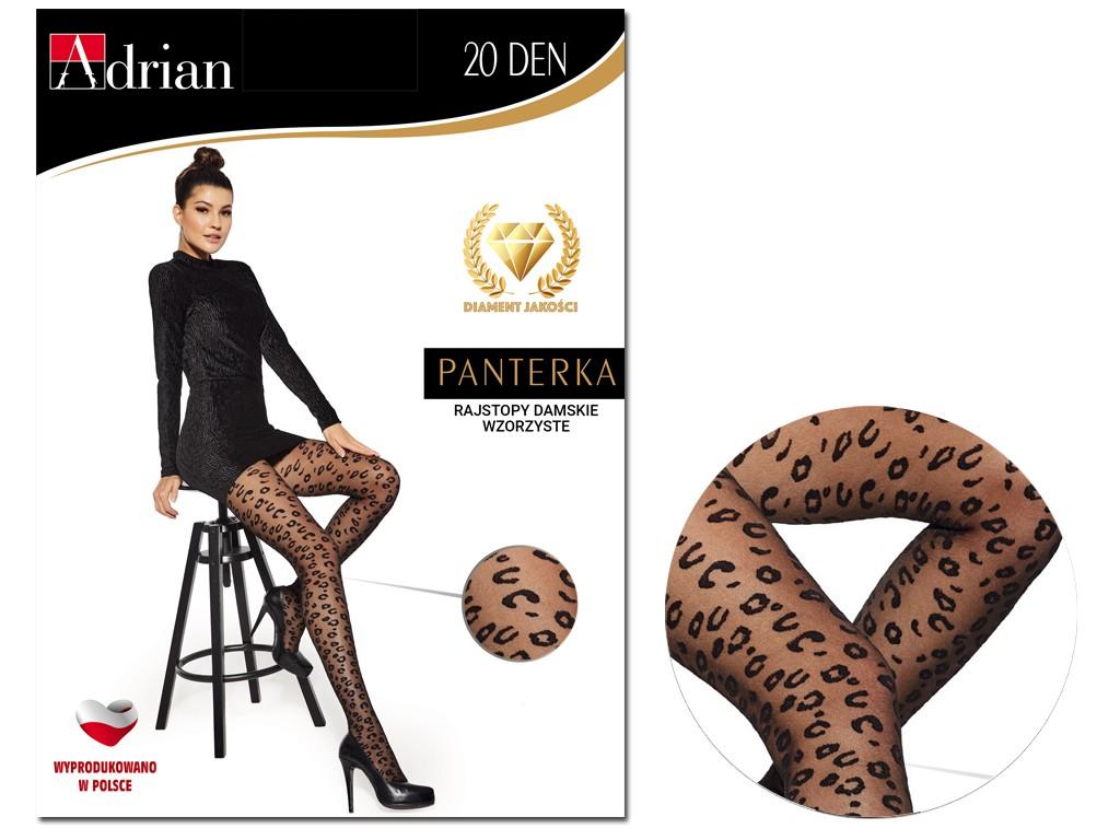 Black leopard print tights with spots