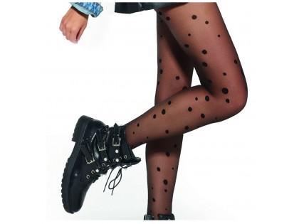Black polka dot tights 20den DROPS - 2