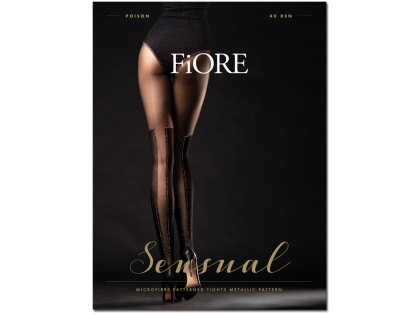 Lurex stockings tights POISON 40den