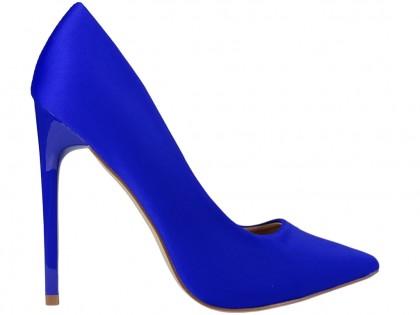 Női magas sarkú cipő kobaltkék - 1