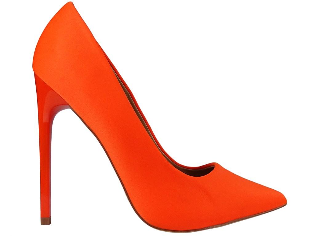 Wysokie szpilki damskie pomarańczowe orange