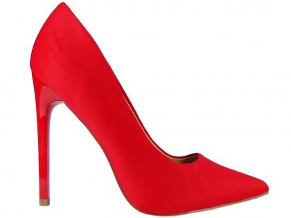 Női magas sarkú piros - 1