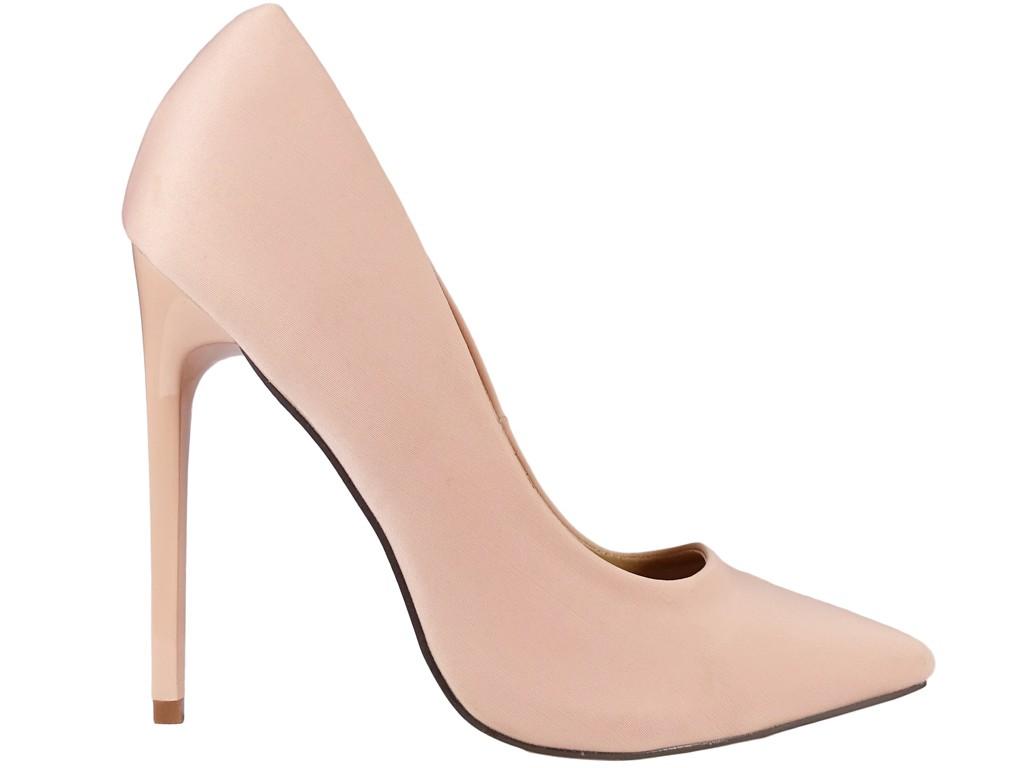 Wysokie szpilki damskie jasno różowe pink