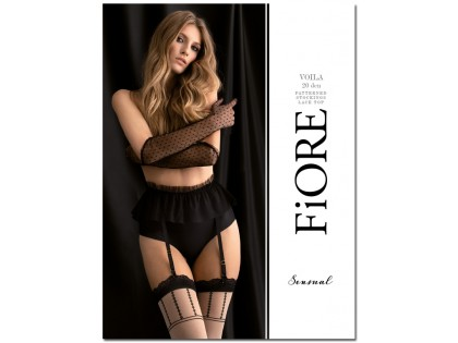 Flesh coloured stockings with black pattern - 1