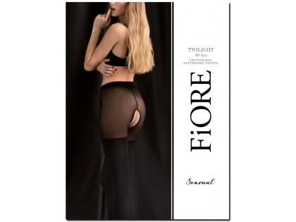 Black tights 40 den - open crotch - 1