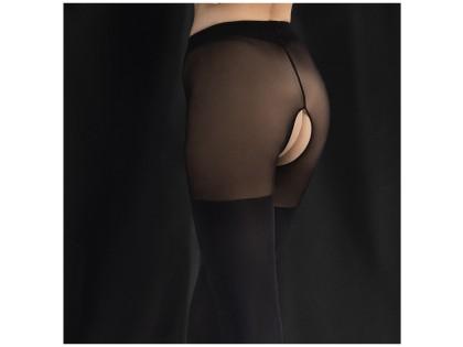 Black tights 40 den - open crotch - 2