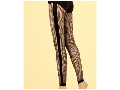 Black cabaret leggings with medium eyelets