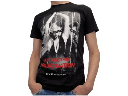 Men's black t-shirt with erotic print - 1