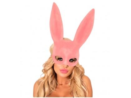 Pink rabbit eye mask - 1