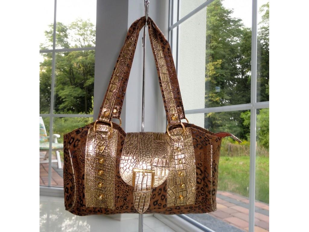 BROWN GOLD SHOULDER BAG - 1