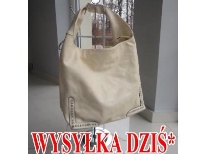 NAGY ECRU TÁSKA ECO BŐR ZIRCONIA A4 - 1