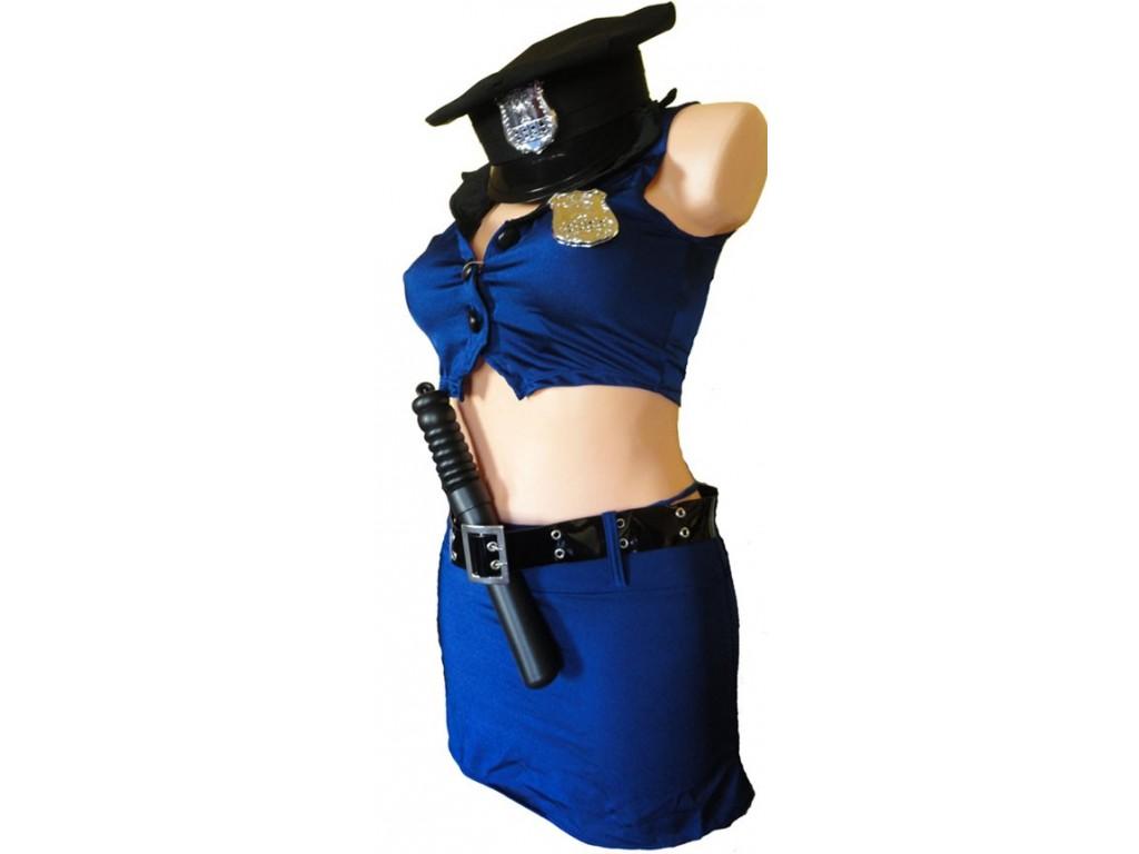 PRZEBRANIE POLICJANTKA SPODNICZKA NIEBIESKA